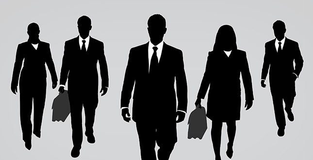 Silhouettes of Business Peopel